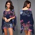 Verão maiô capa ups Bikini Swimwear impresso Chiffon túnica Pareo maiô Beachwear para mulheres YC853082