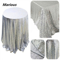 Marious Brand 70'',90',108'',120'',132''R round glitter elegant sequin Table cloths for wedding banquet decoration