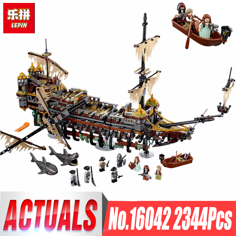 Lepin 16042 Compatible with legoing Pirate of The caribbean 71042 Slient Mary speed Set Children Building Blocks Bricks Toys lepin 16042 2344pcs pirate of the caribbean ship slient mary children educational building blocks bricks compatible 71042 toys
