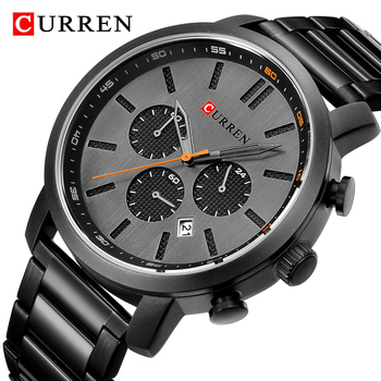 CURREN 8315 Men's Quartz Analog Watch Men Casual Sport Watches Chronograph Stainless Steel With Box