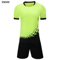 Breathable Quick Dry Short Sleeve Sportswear Men S Soccer Sets Survetement Football 2017 Football Jerseys Uniforms