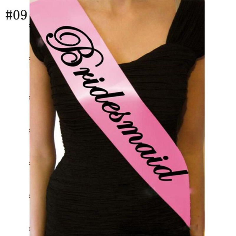12Pcs Pink Bachelorette Party Accessories Hen Night Stain Sashes Hen Party  And Bride To Be For Bride Party Supplies 7A0096-in Banners ba008e7c24be