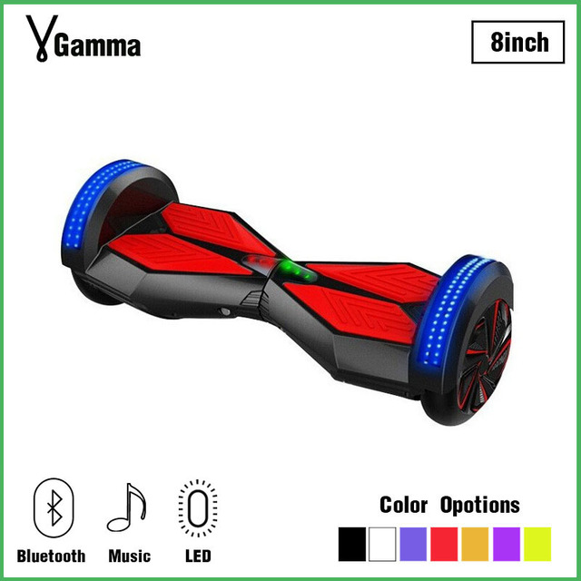 8 Inch Balance Board Two 2 Wheels Motorized Skateboard Balancing Monowheel Bluetooth Electric Hoverboard Many Colors