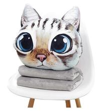 Cartoon thickening pillow quilt dual-use cushion coral fleece blanket