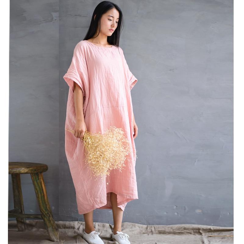 SCUWLINEN 2019 Musim Semi Musim Panas Gaun Vintage Panjang Plus - Pakaian Wanita - Foto 3