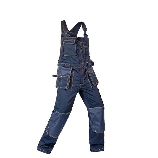 2018 Bib Overalls Men Work Coveralls Multi-Functional Pockets Repairman Strap Jumpsuits Pants Wear-Resistance Working Uniforms