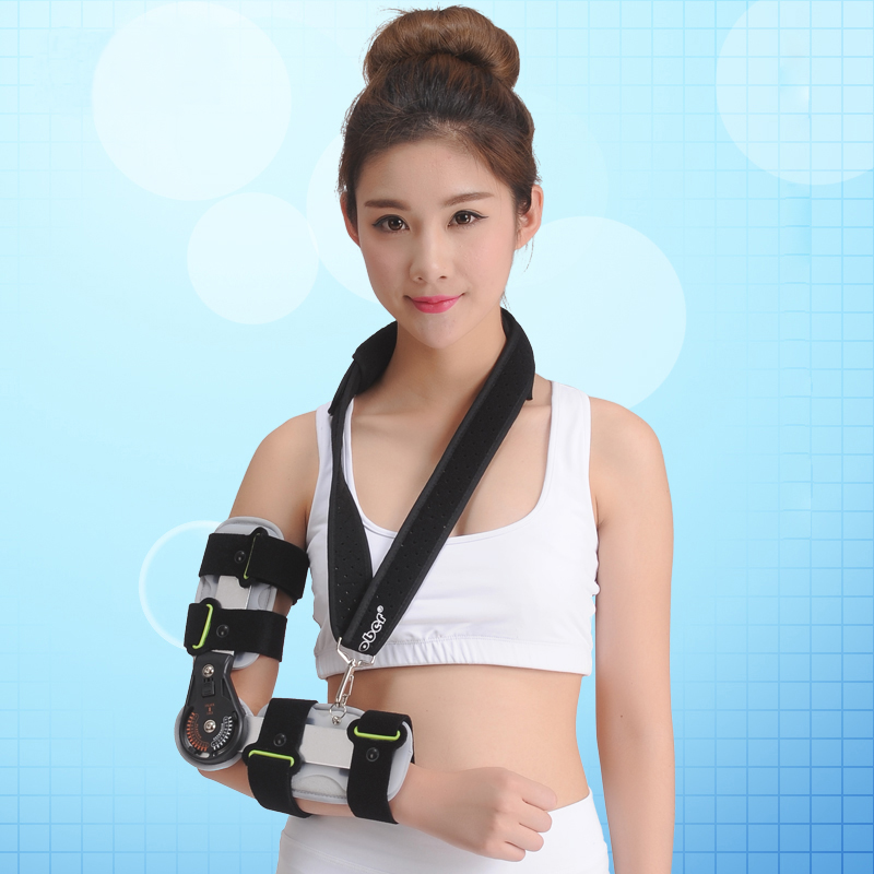 1 Pc Updated Version Adajustable Elbow Joint Protection Sports Knee Brace Support Splint Stabilizer Wrap Sprain Flexion medical orthopedic hinged knee brace support adjustable splint stabilizer wrap sprain hemiplegia flexion extension