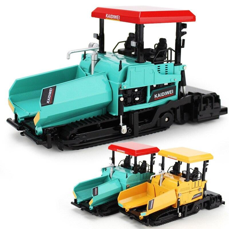1:40 Exquisite Alloy Engineering Vehicle Model Paver Children's Toy Paving Asphalt Highway Construction Simulation Car