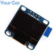Синий Цвет 0.96 «дюйма I2C IIC Связи 128*64 OLED Дисплей ЖК-Экран Модуль 12864