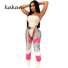 Kakan sexy women's jumpsuit two-piece halter wrapped chest belt jumpsuit trousers sexy nightclub party jumpsuit summer new best women s sexy jumpsuit two piece set backless wrapped chest hollow jumpsuit suit club party nightclub jumpsuit