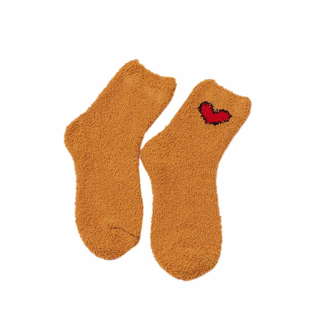 Kancoold 여자 크리스마스 선물 여자면 양말 두꺼운 anti-slip 산호 양 털 부츠 층 슬리핑 양말 카펫 양말 pj1024