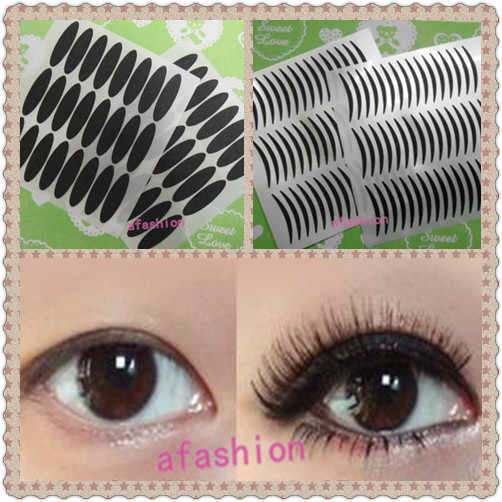 6pcs Thick and Thin double eyelid tape Stripe Makeup Eyeliner Sticker eye makeups styling tools eyelids free shipping