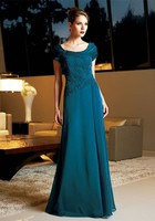 2015 Mother Of The Bride Dresses A Line Cap Sleeves Royal Blue Beaded Long Brides Mother