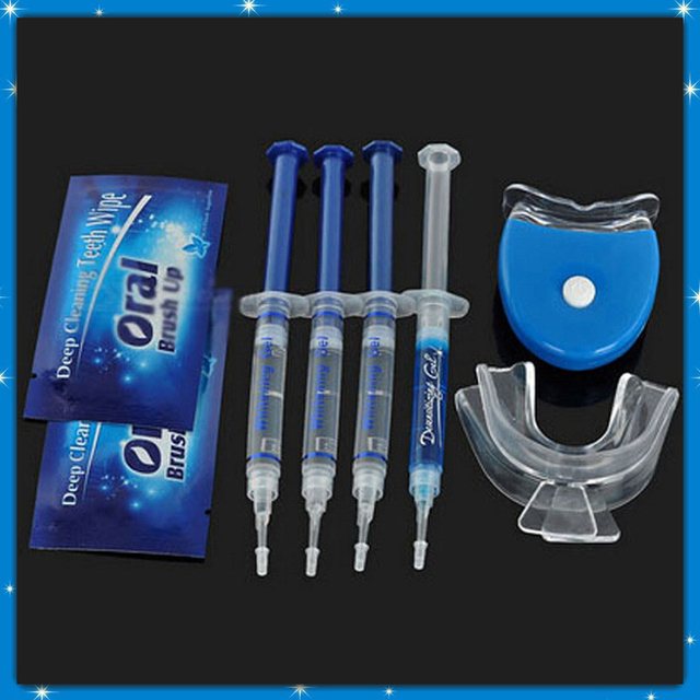 Sistema de Blanqueamiento de Dientes profesionales Que Blanquean el Kit DB-04 Brillante Sonrisa Blanca Gel Para Blanquear Los Dientes Kit Con Luz LED