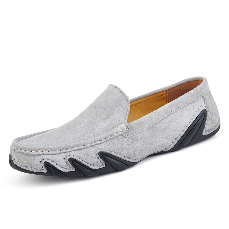 AKZ Man Loafers New Fashion Spring Summer Mens Casual shoes Pig suede Breathable Comfortable Light Male Flat shoes big size in Men 39 s Casual Shoes from Shoes