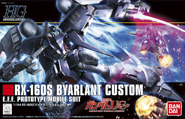 цена на 1PCS Bandai 1/144 HGUC 147 RX-160S Byarlant Custom Gundam Mobile Suit Assembly Model Kits Anime action figure Gunpla juguetes