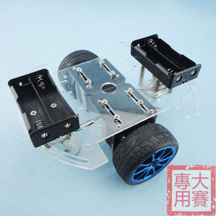 Smart car chassis detection coordinates 42 stepper motor wireless remote control car drive round two universal wheel toothed belt drive motorized stepper motor precision guide rail manufacturer guideway