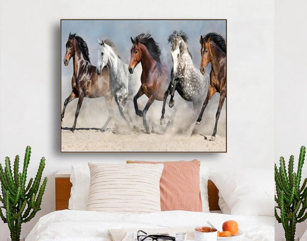 Grassland Pentium Horses Wall Art Decor Poster Print Canvas Painting Calligraphy Decorative Picture for Living Room Home Decor in Painting Calligraphy from Home Garden