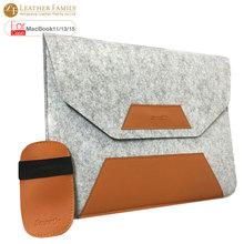 Для macbook pro 13 случай PU Кожаный шерстяного войлока сумка для ноутбука macbook air 11.6 13.3 retina 15 дюймов laptop Sleeve с мышь, сумка