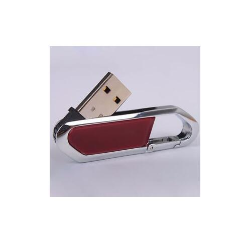 Metal Carabiner leather usb flash drive pen drive 64GB 8GB 16GB 32GB 128GB pendrive real capacity memory stick disk free shippin-in USB Flash Drives from Computer & Office