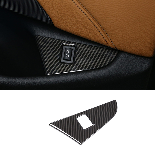 For BMW 5 Series G30 528li 530li 17-18 Car Carbon ABS Plastic Chrome Interior Tail Door Switch Frame Cover Trim Left Hand Drive