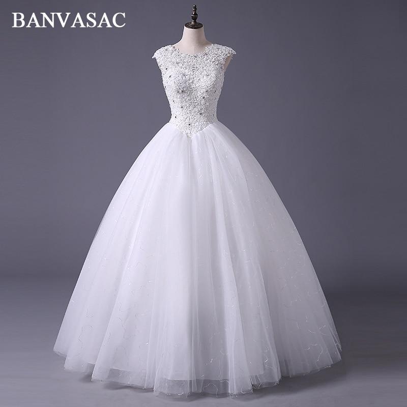 Banvasac free shipping 2017 new arrival bridal wedding for Wedding dress free shipping