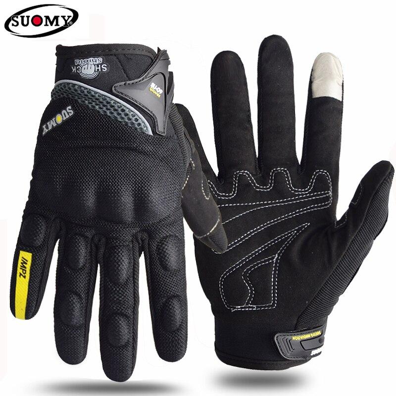 Мотоциклетные Перчатки Suomy, летние дышащие Гоночные Перчатки для мотоциклистов, Защитные Перчатки для мотоциклистов, квадроциклов