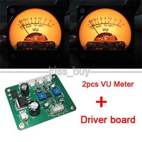 2pcs Panel VU Meter Warm Back Light Recording Audio Level Amp With Driver Module For Amplifier