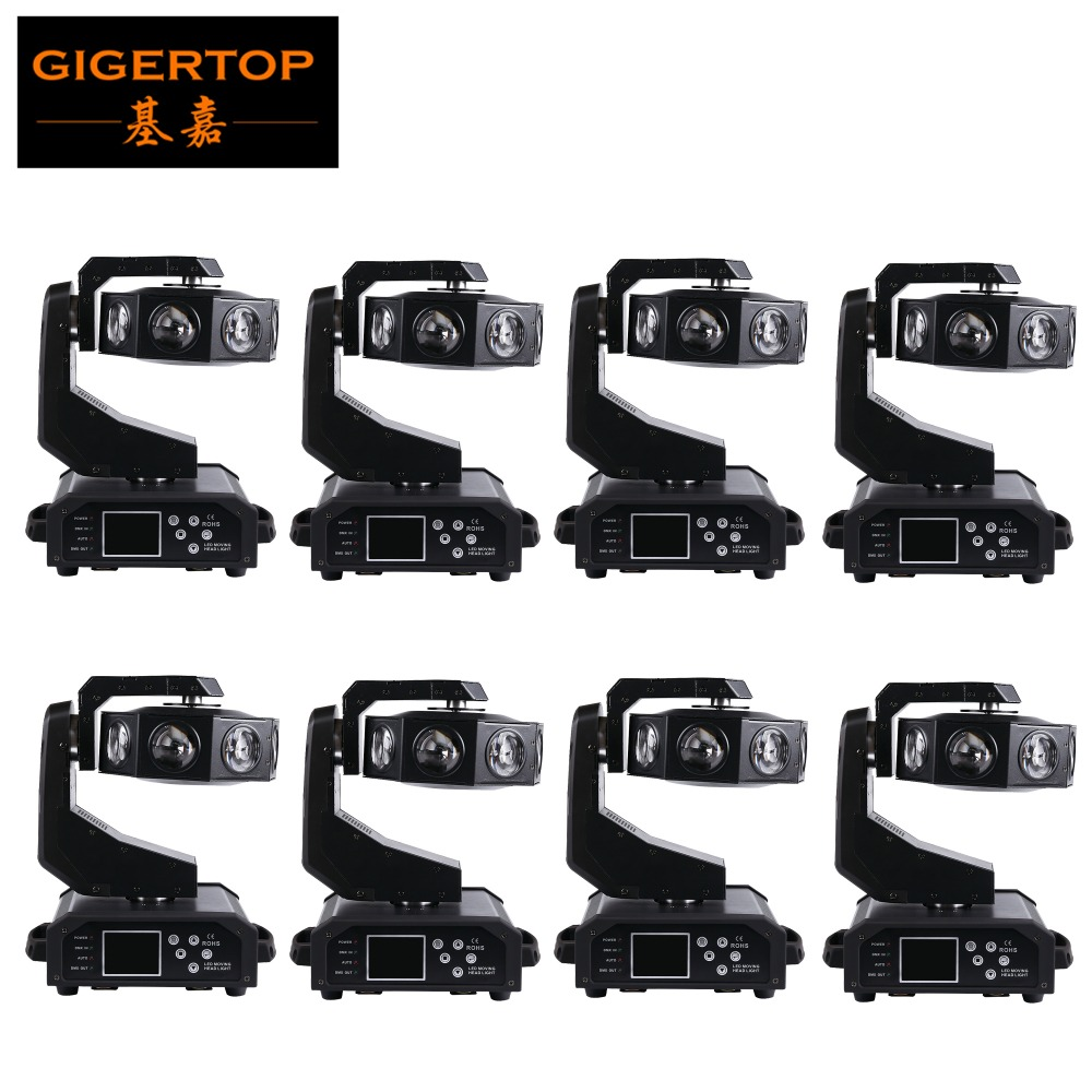 Gigertop TIPTOP Factory Discount 8XLot Cree RGBW 4in1 8x40W DMX LED Moving Light UFO Design Christmas Stage Light Indoor/Outdoor