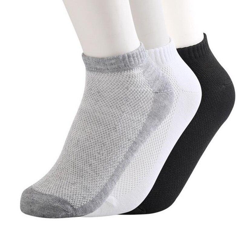 10 пар/лот Весна и лето чистого цвета мужские корабль носки сетчатые носки для ног ванна Короткие хлопковые носки