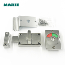 Home Door Window Security Bolt Lock Button Open Type Chrome Plated Zinc Alloy