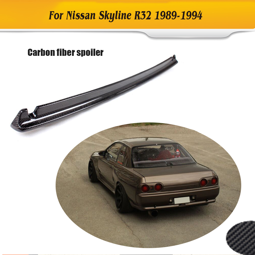 Popular nissan skyline spoiler buy cheap nissan skyline spoiler carbon fiber trunk boot rear trunk lip wing spoiler for nissan skyline r32 gtr 1989 vanachro Gallery