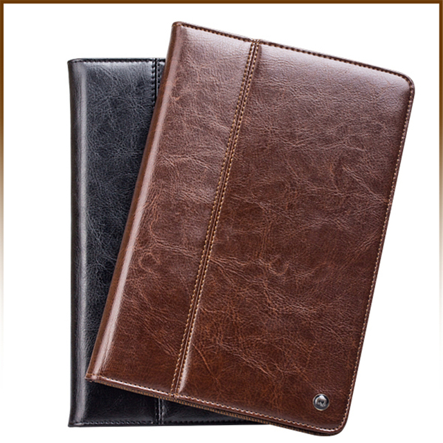Real Cow Leather Case For iPad mini 7.9 inch classical Wallet case Cover Shell For Apple iPad mini 1 2 3 4 Protective Stand Skin
