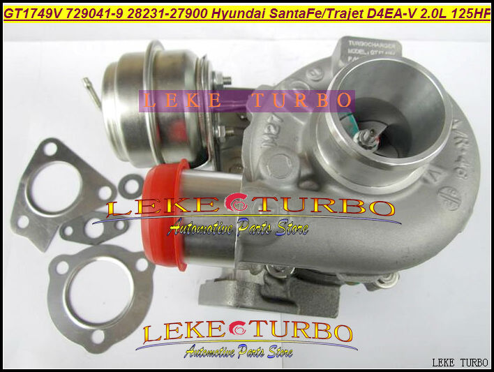 Free Ship GT1749V 729041-5009S 729041-0009 729041 28231-27900 Turbo Turbocharger For HYUNDAI Santa Fe,Trajet 02- D4EA-V 16v 2.0L turbo wastegate actuator gt1749v 729041 0009 28231 27900 729041 turbocharger for hyundai santa fe 03 04 trajet 02 08 d4ea v 2 0l