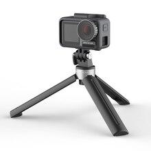 Pgytech tripé mini alça de desktop para dji osmo móvel 4 bolso 2 gopro hero 9 8 câmera ação 1/4 thread porta expansão