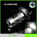 H7 CREE chip 45W LED Auto Bulbs High Power Foglights Head Fog Lights, Car Light Bulb 12V LED Fog Lamp Car Light Source
