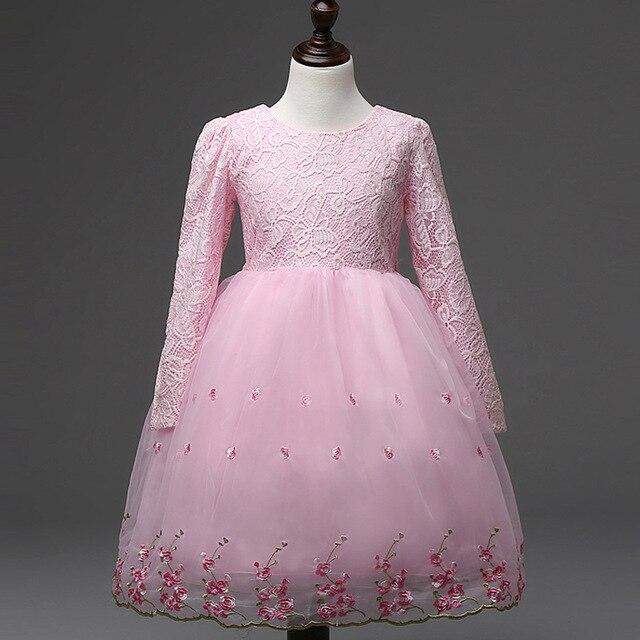 4 12 T Rosa Bordado Niña de las Flores Princesa Vestidos de Partido ...