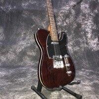custom shop,handmade TELE 6 Strings Rosewood fingerboard handwork Electric Guitar,telecasterr gitaar.brown color guitarra