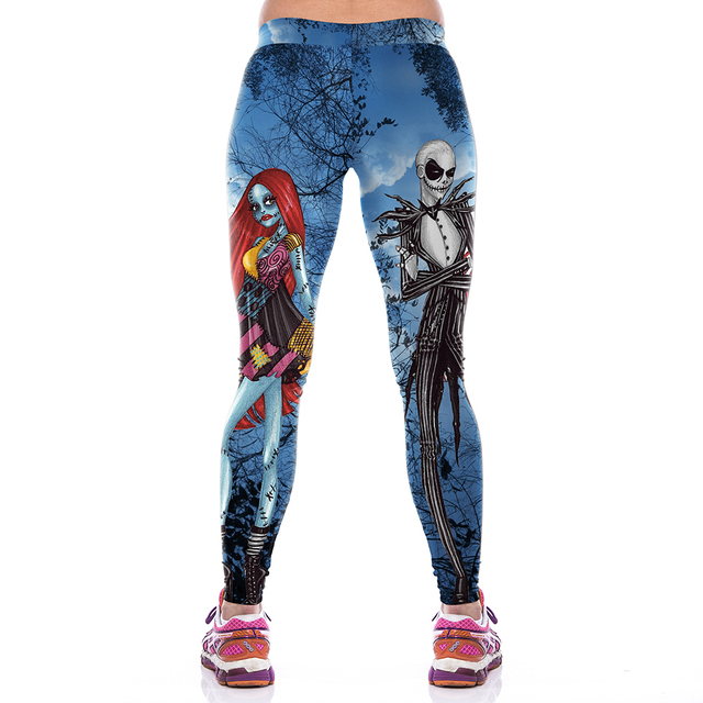 Halloween Blue Witch 3D Printed Leggings