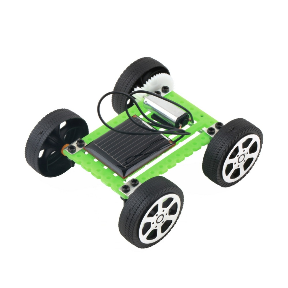 mini kit educational solar diy car powered puzzle kids toys children gadget hobby funny toy hot