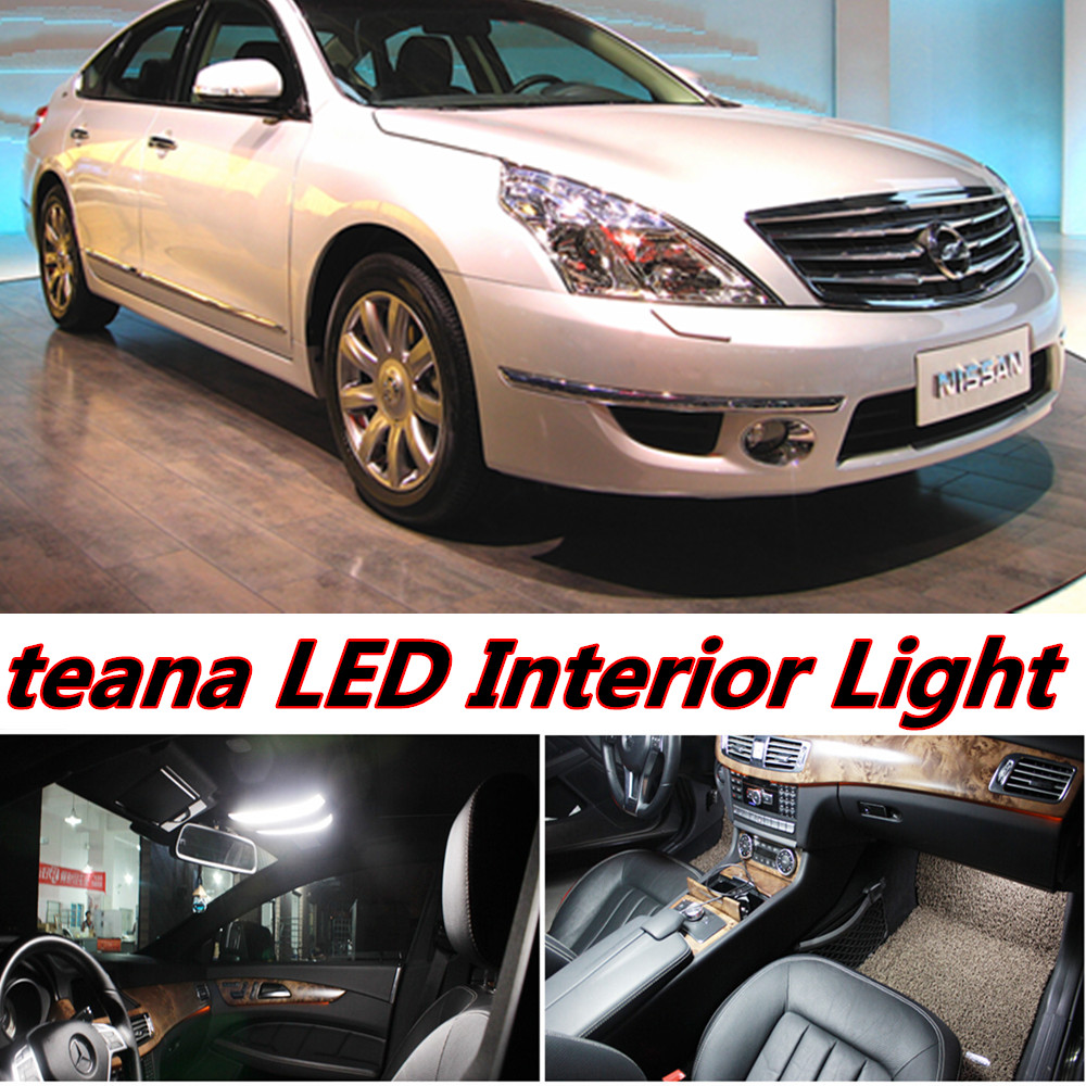 5pcs X free shipping Error Free LED Interior Light Kit Package for nissan teana j32 accessories 2008-2013 free shipping new arrival 35pcs pack 2m pcs led aluminum profile for led strips with milky or transparent cover and accessories