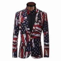 Cloudstyle Unique Design Printing Mens Casual Blazer Plus Size 6XL Suit Jacket Slim Fit Men S