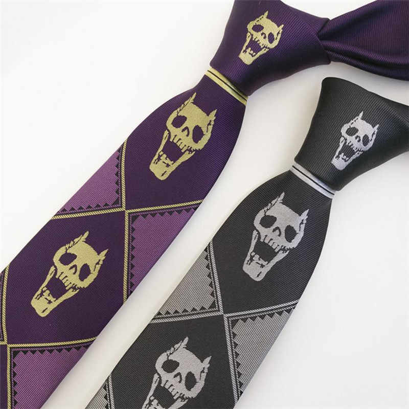 JOJO JoJo Bizarre Adventure Cravatta Al Collo Cosplay Costume Cravatte KILLER QUEEN Cieli porta Kira Yoshikage Tie