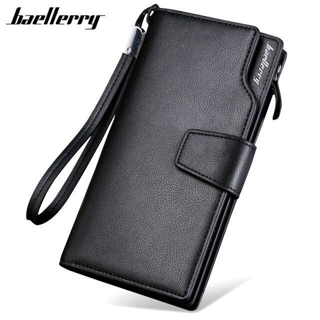 NEW Brand Business Men wallet Coin pocket purse Multifunction Casual Clutch Pockets male purse portfolio Zipper phone bag