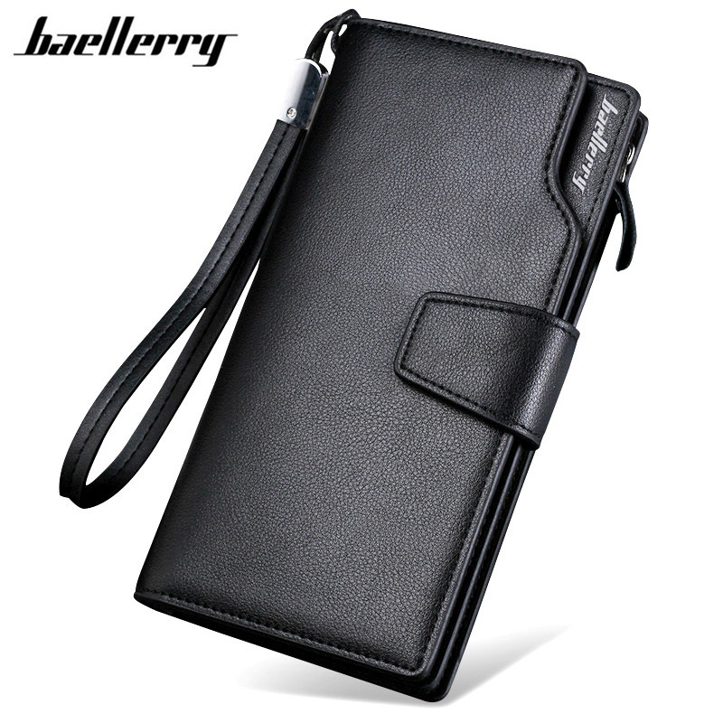 NEW Brand Business wallets men's purse Multifunction Pockets Casual Clutch male purse Zipper phone bag portfolio Designer wallet