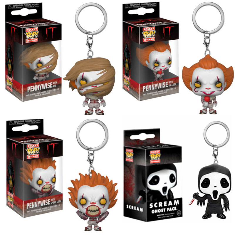 Funko POP Movie Games of Throne Scream Pennywise With Wig Figure Keychain Toys