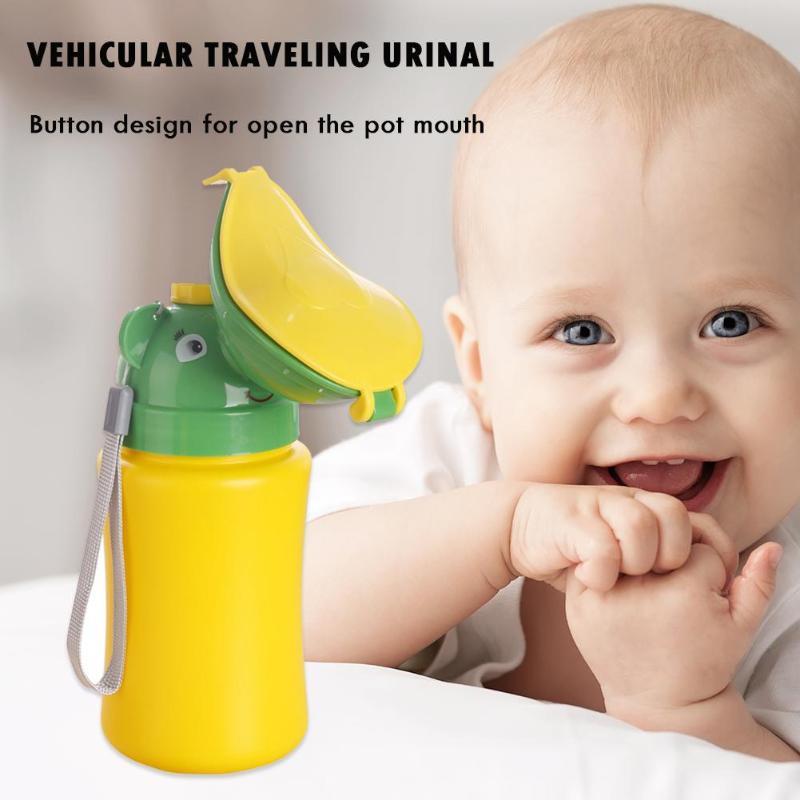 Portable Cute Baby Travel Toilet Vehicular Urinal Kids Potty Girl Boy Car Convenient Baby Urinal Pot Urinal Traveling Potties