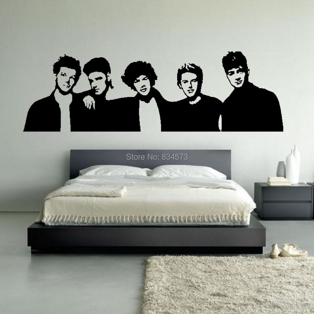 High Quality Aliexpress.com : Buy One Direction Boyband 1D Silhouette Wall Art Stickers  Decal Home DIY Decoration Wall Mural Removable Bedroom Decor Wall Stickers  From ... Part 12