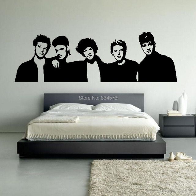 One Direction Boyband 1d Silhouette Wall Art Stickers Decal Home Diy