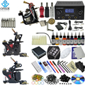 OPHIR Complete Tattoo Kit 2x Liner Tattoo Machine & 1x Liner Shader Tattoo Gun 9Color Inks 50pcs Needles Body Tattoo Art_TA086
